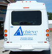 Achieve Services bus reflective cut vinyl graphics