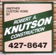 4' x 4' Simple job site sign with cut vinyl graphics