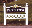 Greenhaven Golf Course Pro Shop - 2' x 4' sandblasted cedar monument sign