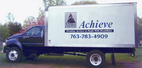 Digital  print and cut vinyl graphics on box van for Anoka County Achieve
