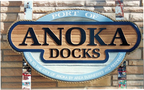 Anoka Docks - 4' x 5' sandblasted cedar and hand painted