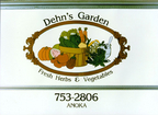 Logo designed for Dehn's Garden in the 1970's. Back in those days everything was hand painted!