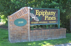 Epiphany Pines - 4' x 8' sandblasted cedar monument sign