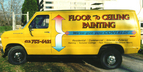 Floor to Ceiling Painting - digital print and cut graphics. Make your old van look new again!