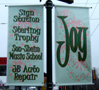 Christmas Themed Outdoor Street Pole Banners