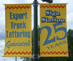 Sign Station 25 Years Street Pole Banners