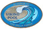 Viking Pool - 3' x 4' sandblasted cedar sign