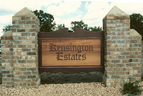 Kensington Estates - 4' x 6' sandblasted cedar development monument sign