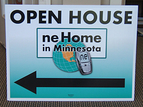 "18"" x 24"" Real estate open house sign. Custom logo design by Sign Station with digital print vinyl"