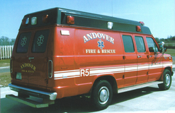 Andover Fire Dept. Rescue Rig Gold Leaf and Reflective