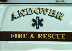 Andover Fire Dept. Rescue white rig