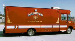 Andover Fire Dept. utility rig Gold Leaf and Reflective