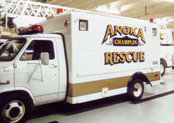 Anoka Champlin Fire Dept. Rescue 23k Gold Leaf