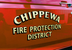 Chippewa Fire District Grass rig 23K Gold Leaf