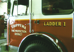 Chippewa Fire District Ladder 23k Gold Leaf