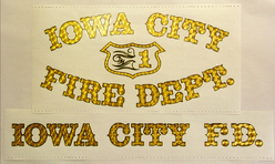 Iowa City Fire Dept. 23k Gold Leaf