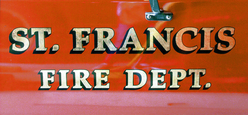 St. Francis Fire Dept. Signgold