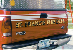 St. Francis Fire Dept. Rescue Tailgate 23k Gold Leaf