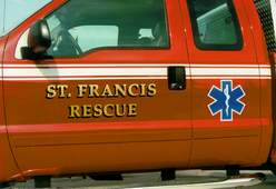 St. Francis Fire Dept. Rescue 23k Gold Leaf and reflective