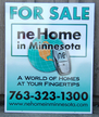 2' x 3' Real estate for sale sign. Digital print vinyl